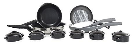 Batería de cocina de inducción-sartenes Pyrex Quid-Set de 11 piezas