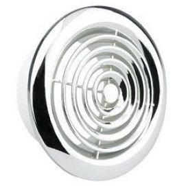 "2150C Internal Ventilation Grille Round Chrome 6"" 150mm ..."