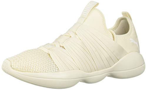 PUMA Women's Flourish Sneaker Whisper White, 8 M - Flourish Stripe