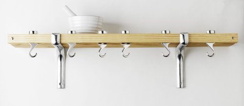 Taylor & Ng Track Wall Pot Rack - Natural Wood