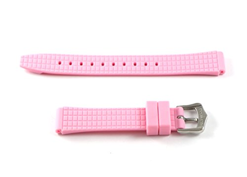 Swiss Legend 16MM Light Pink Rubber Watch Strap & Silver Stainless Buckle fits 35mm Love Connection Watch by Swiss Legend (Image #2)
