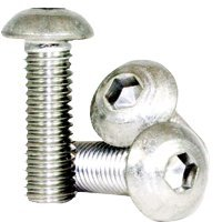 3/8''-24x5/8'' STAINLESS 18 8 BUTTON SOCKET SCREW (INCH) (QUANTITY: 100) Size: 3/8''-24, Length: 5/8'', Head Style: Button, Fine Thread (UNF)