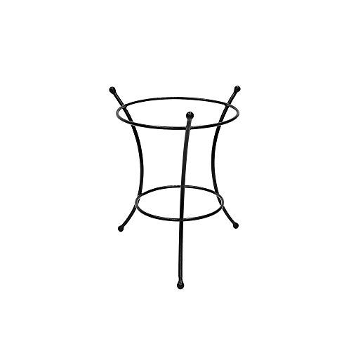 Wrought Iron Ball - Achla Designs GBS-21 Multi-Use, Large Wrought Iron Metal Plant birdbath Bowl Stand Flowerpot Holder, 10