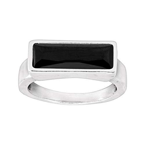 (Silpada 'Noire' Jet Black Swarovski Crystal Ring in Sterling)