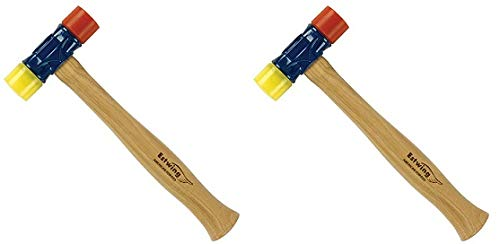 Estwing Rubber Mallet - 12 oz Double-Face Hammer with Soft/Hard Tips & Hickory Wood Handle - DFH12 (2)