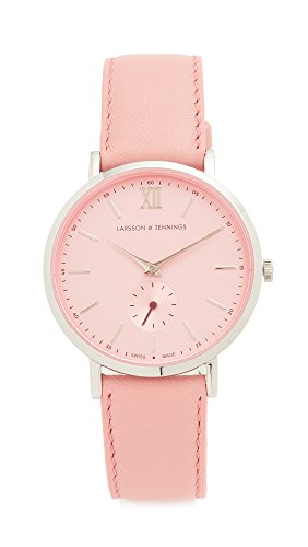 Larsson & Jennings Women's Lugano II Watch, Silver/Pale Pink/Deep Red, One Size