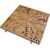 Nouveau !! jeu de toc ( tock ) luxe 36 x 36 cm en bois d'hévéa