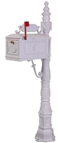 Victorian Barcelona Decorative Cast Aluminum Better Box Mailbox - Victorian Mailbox Post