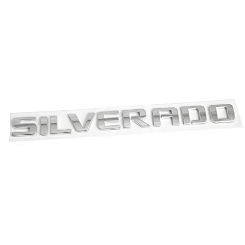 Yoaoo 1x OEM Black Silverado Emblem Badge Nameplate Letter 3D Replacement for 1500 2500HD 3500HD Glossy 15129652