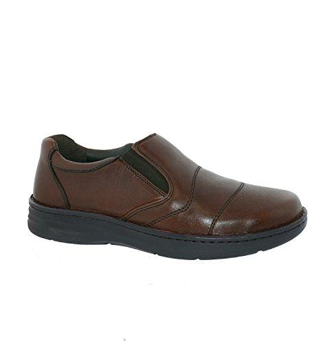 Drew Shoes Fairfield - Men's Therapeutic Diabetic Extra Depth Shoe: Brandy 12.0 X-Wide (4E) (Mens Footwear Leather)