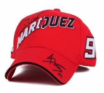 Amazon.com  Marc Marquez 93 Moto GP Red Baseball Cap (A)  Sports ... 6056313bf37