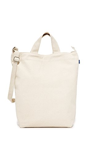 (BAGGU Women's Duck Bag, Canvas, White, Off White, One Size)