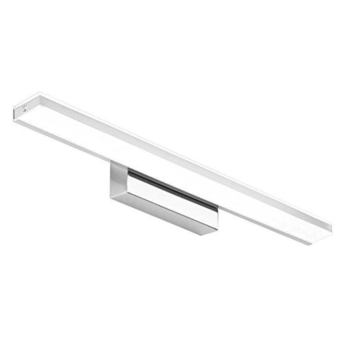 LEDMOMO Lámpara de baño antiniebla de 9W de acero inoxidable LED con luz de espejo Lámpara de baño con luz antivaho...