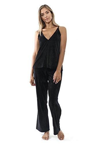 Womens Cami Top Pants (Jones New York Women's 2PC Cami Top & Pant Set,Solid Velour (X-Large))
