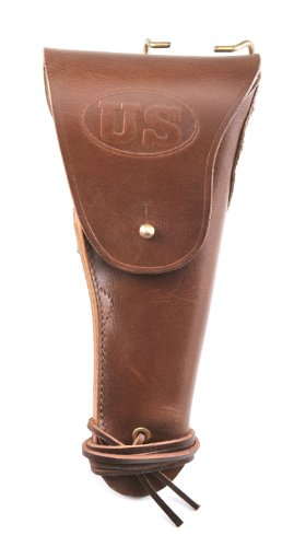 - World War Supply US WW2 M1916 Model 1911 .45 Leather Holster Marked JT&L 1942 Premium Drum Dyed Leather