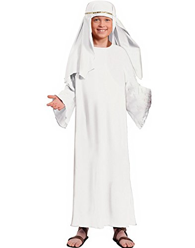 Forum Childs White Wise Man Religious Christmas Costume Large ()