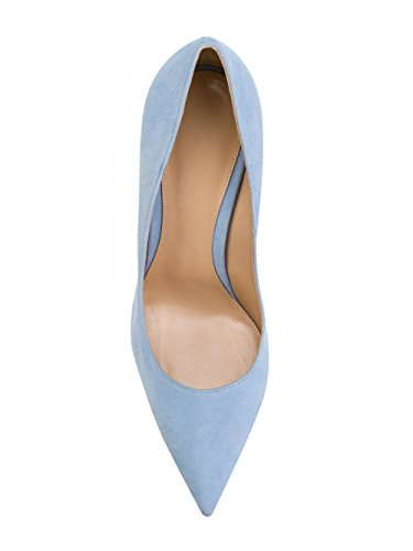 Stiletto Damen Blue Damen Heels Klassische Pumps EDEFS High Geschlossene Moderne Schuhe Damen Pumps Light fzd0OnOIYW