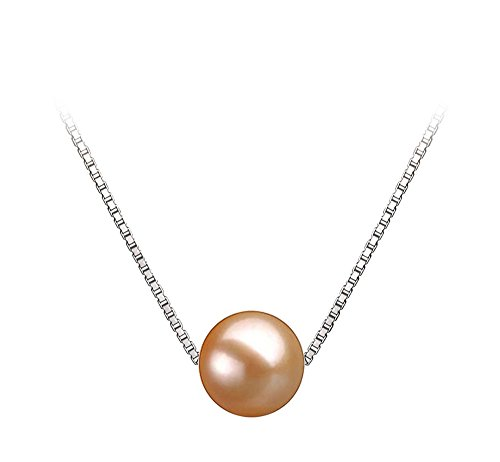 10mm Pink Freshwater Cultured Pearl Pendant Necklace 18