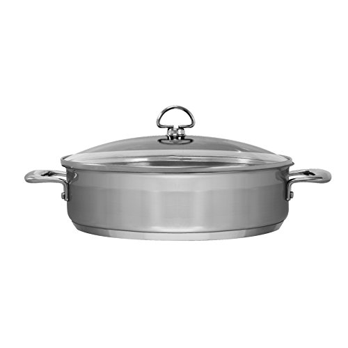 Chantal SLIN29-280 Induction 21 Steel Sauteuse with Glass Tempered Lid (5-Quart) by Chantal (Image #1)