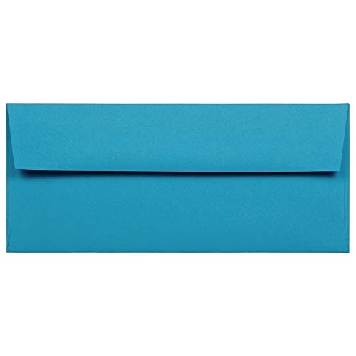 JAM PAPER #10 Business Colored Envelopes - 4 1/8 x 9 1/2 - Blue Recycled - 50/Pack ()
