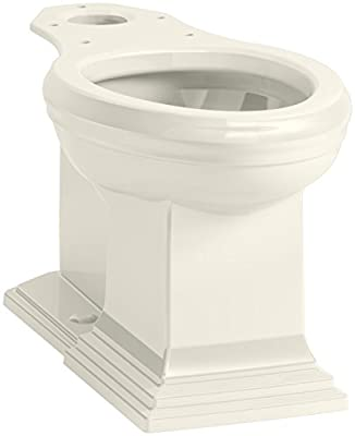 KOHLER K-5626-96 Memoirs Comfort Height Elongated Toilet Bowl with Concealed Trap Way, Biscuit