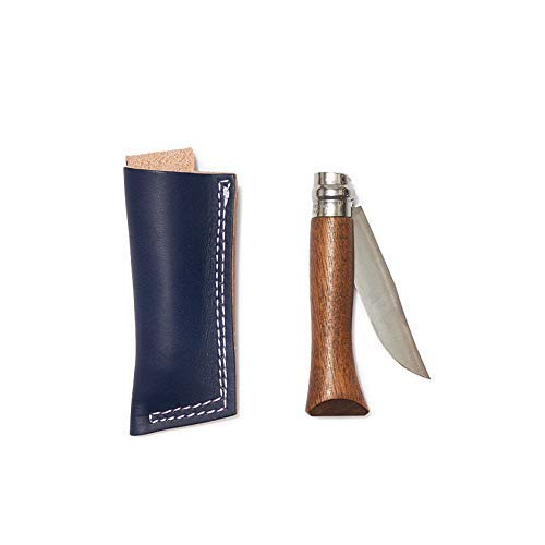 Whiskey Opinel® no. 6 Knife with Walnut Handle & Indigo Leather Belt Sheath / from Son of a Sailor