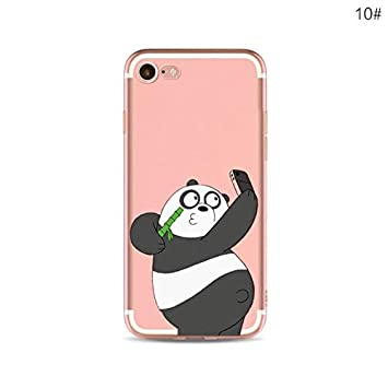 Desconocido Funda iPhone 7 Plus, iPhone 8 Plus, Oso Panda We ...