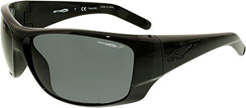Arnette Heist 2.0 Unisex Polarized Sunglasses - 41/81 Gloss Black/Grey by Arnette