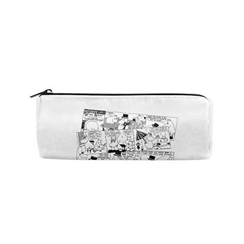 Moomin Falls In Love Comic Strip Pencil Bag Pen Case Cosmetic Makeup Bag Pen Pencil Stationery Pouch Bag Case - Pencil Pouch Students Stationery Pouch Zipper Bag For Pens Pencils -