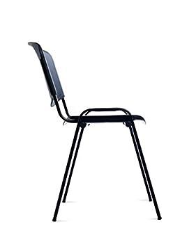 Silla confidente de 4 patas para visitas. Respaldo y asiento ...