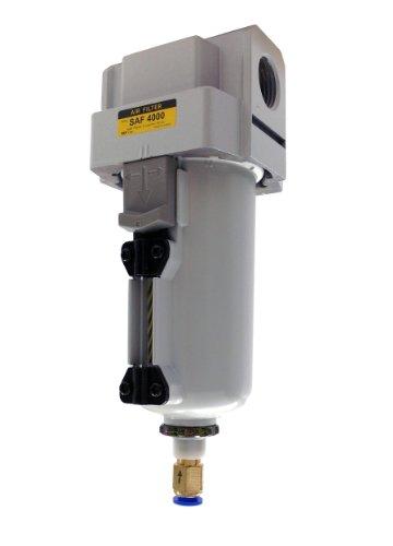 PneumaticPlus SAFM4000M-N04BD-MEP Inline Air Drying Coalescing Filter (Mist Separator) 0.3 Micron, 1/2