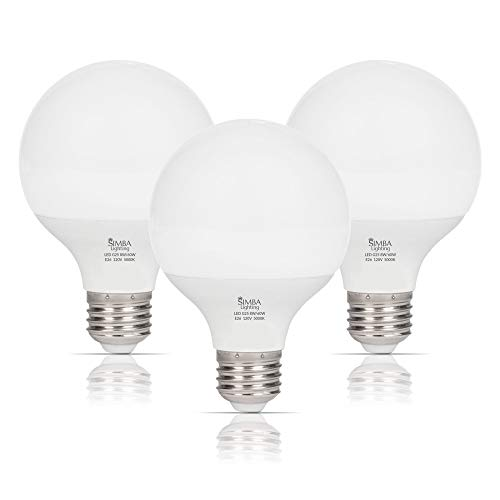 Simba Lighting LED Vanity Globe G25 (G80) Light Bulb for Bathroom, Makeup -