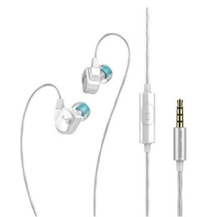 YIKO H3 In-ear Headphones Sound with In-line Microphone for MP3 MP4 PC Tablets Cell Phones (white) (Audio H3 Waterproof Headphones)
