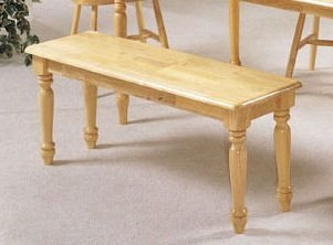 New Farmhouse Design Natural Solid Wood Bench ACS 20864n