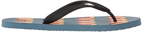 Reef Switchfoot Prints, Sandalias Flip-Flop para Hombre Blue/Multi Lines