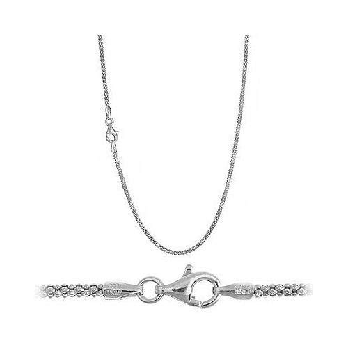 Italian .925 Sterling Silver 1.5mm Popcorn Chain Necklace All Sizes - ()