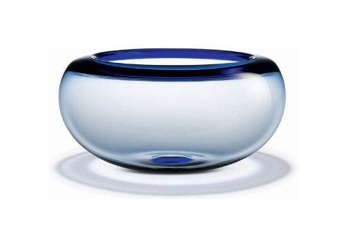 Cuenco de vidrio azul de 31cm