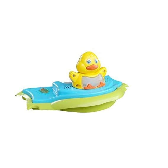 Sunbaby Activity Duck Toy with Musical Piano Buttons with 5 Different Music, Changing Light, Tray for Infants