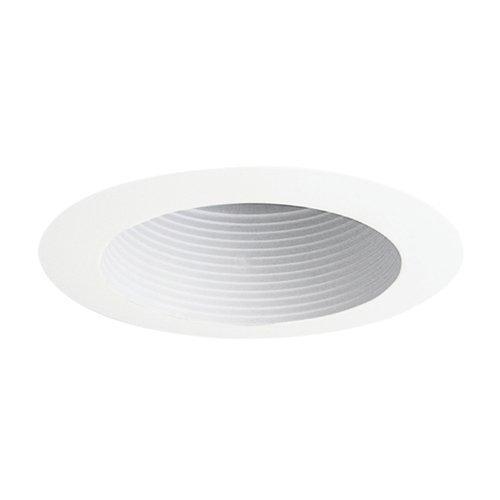Juno Lighting 444W-WH 4-Inch Adjustable Recessed Trim, White Baffle with White Trim by Juno Lighting