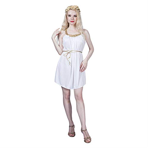 Homemade Historical Halloween Costumes (Halloween Costumes for Women Grecian Dress White Greece Toga Goddess Cosplay Sexy Fancy Dress for Historical Carnival)