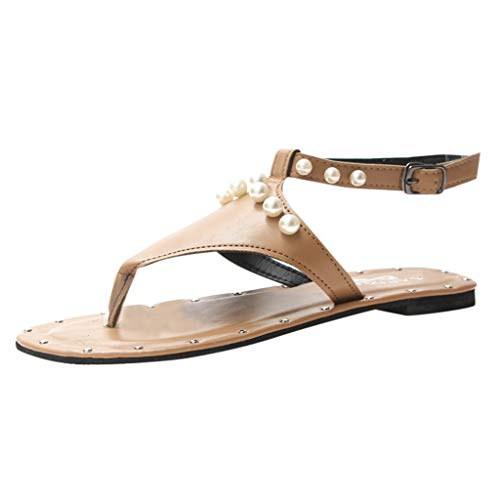(DDKK Sandals Gladiator Open Toe Lace Up T-Strap Criss-Cross Strappy Ankle Wrap Summer Beach Thongs Sandals-Clip-Toe Flats Roman Shoes)