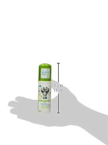 Babyganics Alcohol-Free Foaming Hand Sanitizer, Fragrance Free, On-The-Go, 50 ml (1.69-Ounce), Pump Bottle (Pack of 6) by Babyganics (Image #14)