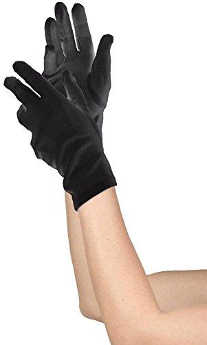 Child Short Black Gloves (Women's Black Short Gloves)