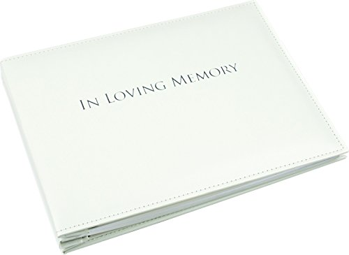 Esposti in Loving Memory Book - Condolence Book - Funeral Guest Book - Loose Leaf - White 10.5 x 7.6 x 1.2inches