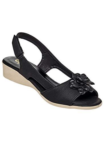 AmeriMark Women's Adult Sofwear by Beacon Quinn Sandals 8.5 Wide US Women/Black