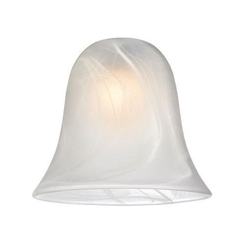 Alabaster Bell Glass Shade - Lipless with 1-5/8-Inch Fitter