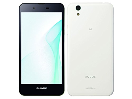 Sharp SIM free smartphone AQUOS SH-M04-A (white) SH-M04-A-W(Japan Import-No Warranty)