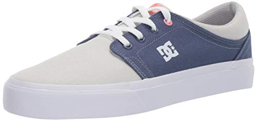 DC Women's Trase TX Skate Shoe, Blue/Grey, 8 M US
