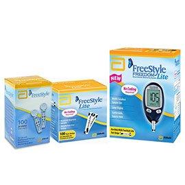 Freestyle Freedom Lite Meter Kit Combo (1 Meter, 100 Test Strips, 100 Lancets)