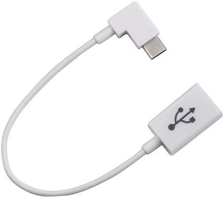 Cable Length: 10cm, Color: White Cables Direito Angular de 90 Graus USB 3.1 tipo c Tipo USB-C-C Occus USB 2.0 Feminino OTG Cable 10 cm Occus Celular Tablet /& Laptop